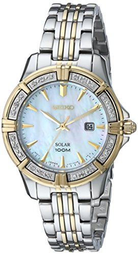 Seiko Women's SUT072 Diamond-Accented Two-Tone Stainless Steel Solar Watch