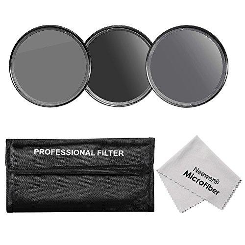 Neewer® 52MM Professionelle Neutraldichte ND-Filter Set Fotografie (ND2 ND4 ND8) + Premium-Mikrofaser Reinigungstuch Kompatibel mit NIKON (D3300 D3200 D3100 D3000 D5200 D5100 D5000 D40) Foto / CANON EOS M Kompaktkamera