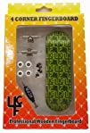 4CFB Complete Wooden Fingerboard with Real Wear Neon Green