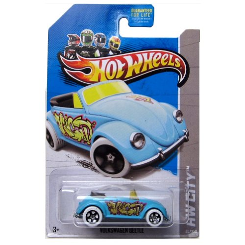 Hot Wheels 2014 Hw City Graffiti Rides Volkswagen Beetle 40/250 (Light Blue) - 1