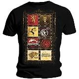 Official T Shirt GAME OF THRONES Stark Lannister HOUSES Black All Sizes