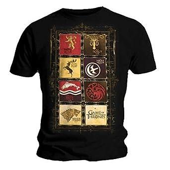 Official T Shirt GAME OF THRONES Stark Lannister HOUSES Black S