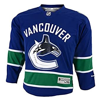 NHL Vancouver Canucks Replica Youth Jersey, Blue, Small/Medium