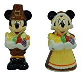 Disneys Mickey & Minnie Mouse Thanksgiving Salt & Pepper Shaker Set