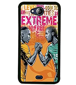 Fuson Premium Spirit Of Play Metal Printed with Hard Plastic Back Case Cover for Micromax Canvas Play Q355