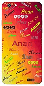 Anan (Clouds) Name & Sign Printed All over customize & Personalized!! Protective back cover for your Smart Phone : Samsung Galaxy E5