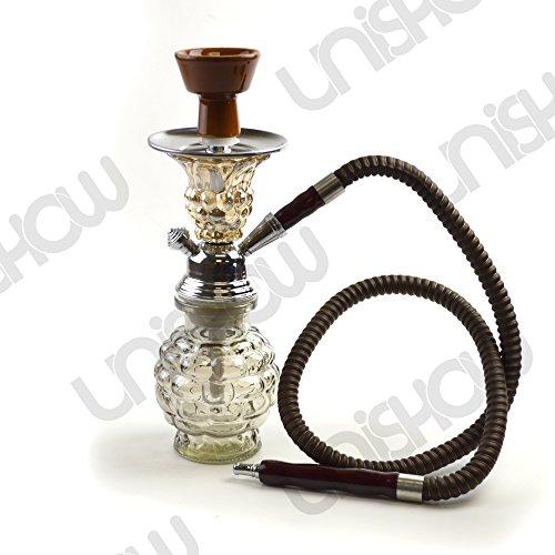 Unishow-10-1-Hose-Pineapple-Bubble-Glass-Vase-Smoking-Shisha-Tobacco-Cigarette-Hookah-Huka-Pipe-Deluxe-Set-Transparent-Brown