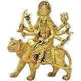 Redbag Goddess Sherawali Mata Brass Sculpture