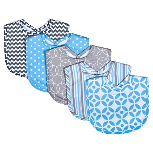 Trend Lab 5 Piece Bib Set, Logan