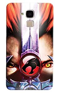 Omnam Eyes With Leopard Effect Printed Designer Back Cover Case For Huawei Honor 5C
