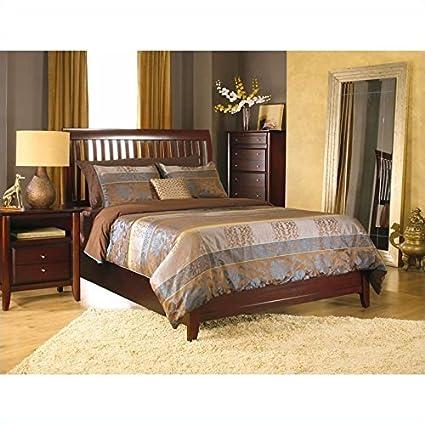 Modus Furniture City II Rake Bed in Coco 2 Piece Bedroom Set