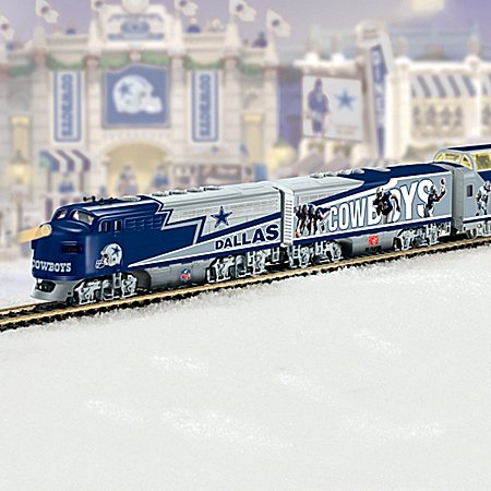 Collectible Nfl Football Dallas Cowboys Express Electric Train Collection - Subscription Plan