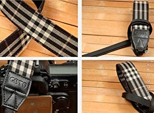 Plaid Color Neck Strap for Canon, Niko,fuji, Olympus,panasonic,pentax,sony Cameras Zf-3