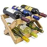 Sorbus Bamboo Foldable Countertop Wine Rack 6-bottles (Bamboo)