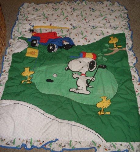 Snoopy Quiltex Quilt Set - Golf - 4 Piece Comforter Baby Nursery, Toddler Set
