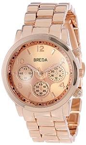 Breda Women's 2374-rosegold Bailey Oversized Catwalk Boyfriend Watch