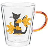 Goldfish Watch Double Wall Glass Mug