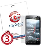 myGear Products Clear LifeGuard Screen Protectors for HTC ThunderBolt (3 Pack) ~ myGear Products