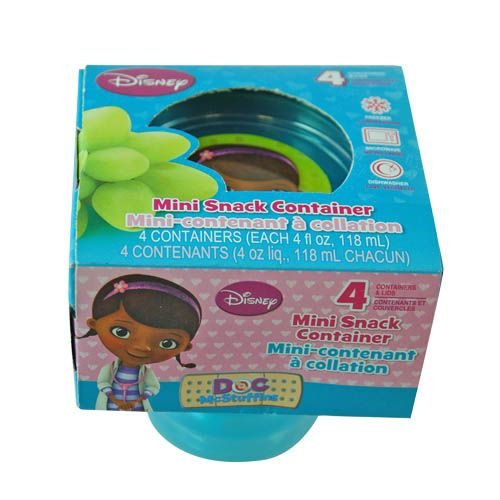 Doc Mc Stuffins 4pk Small Containers - 1