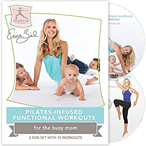 Pilates-Infused Functional Workouts, After Baby 2 DVD Set By Erica Ziel
