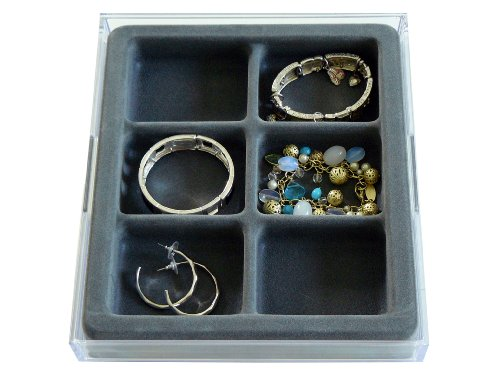 Stack 'em Jewelry Organizer Box Bangle and Hoop Earring Drawer Jewelry Tray (Jewelry Drawer Organizer Tray compare prices)