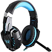 CEStore KOTION EACH G9000 Over-ear 3.5mm Profesional Gaming Headset LED Lighting Gaming Headphone Headband With... - B01DUC0WTS