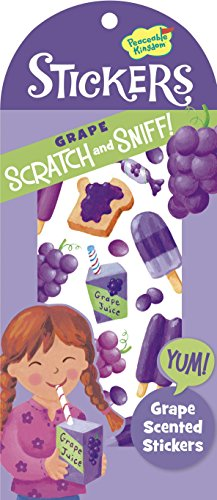 Peaceable Kingdom Scratch and Sniff Grape Scented Sticker Pack