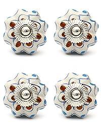 Knobs & Hooks FBK-343 Ceramic Cabinet Knob; Multi; (Set of 4 pieces)
