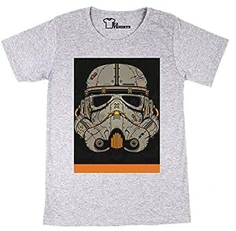EZtshirts Darth Vader Helmet Star Wars Orange T-shirt - XX-Large Damen