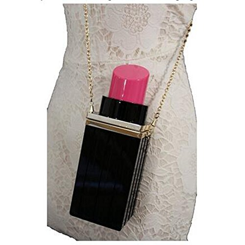 Women-Acrylic-Black-Lipstick-Shape-Evening-Bags-Purses-Clutch-Vintage-Banquet-Handbag-Pink