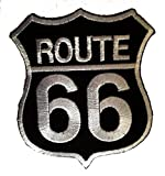 Route 66 Motorcycles Rocker Biker Patch ''6,5 x 8,3 cm'' - Toppa Patches Toppa Toppa Termoadesiva Toppa Termoadesiva Per Stoffa Ricamato Toppa Embroidered Patch Applicazioni Applique