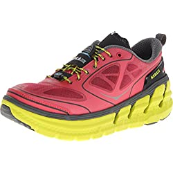 Hoka One One Conquest Running Shoe - Womens Paradise Pink/Castlerock/Citrus 9.0