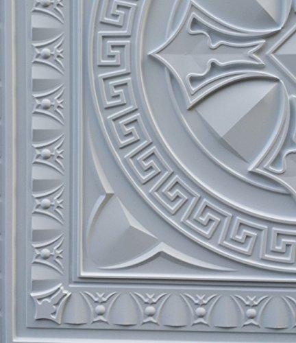 PL01 en similicuir Intérieur Carreau de plafond Blanc mat pour décoration en relief de fond photosgraphie Panneaux muraux 10pieces/lot