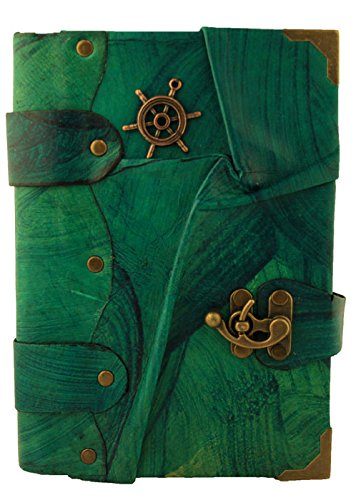 le-navi-a-ruota-pendente-blu-annata-diario-in-pelle-fatto-a-mano-leather-taccuino-sketchbook-notepad