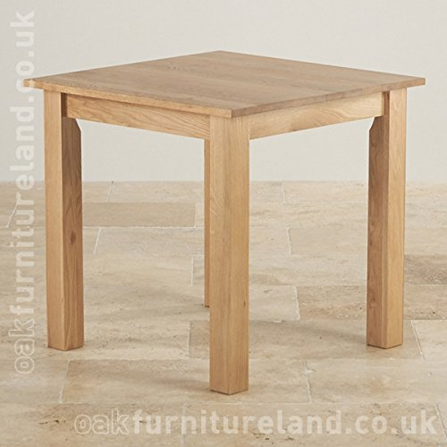 "Hudson 2ft 6"" x 2ft 6"" Natural Solid Oak Square Dining Table"