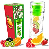 Infuser Water Bottle 24 Oz. Infusion Water Bottle Recipe Ebook Gift Included
