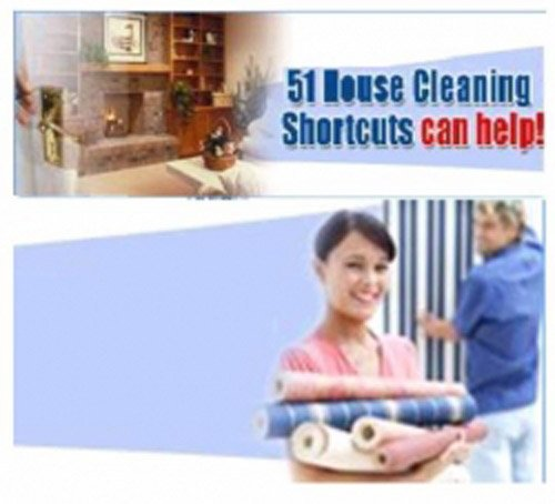 Best eBook on Shortcuts on How To Clean The House - 51 House Cleaning Shortcuts