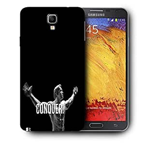 Snoogg Exercise Motivation Printed Protective Phone Back Case Cover For Samsung Galaxy NOTE 3 NEO / Note III