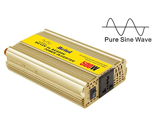Meind pure sine wave power inverter 500W DC 12V to AC 220V peak 1000W Car power converter (Vector Power Inverter compare prices)