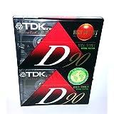 TDK Normal Bias D90 High Output Precision Rigid Construction Mechanism IEC I / Type I Normal Position - 2 Pack of Slimline EcoCase Audio Cassette Tapes