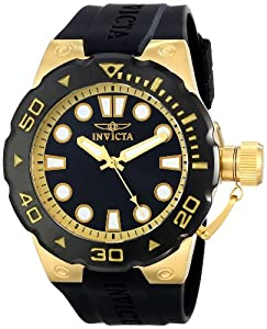 Invicta Men's 16135SYB Pro Diver Analog Display Swiss Quartz Black Watch