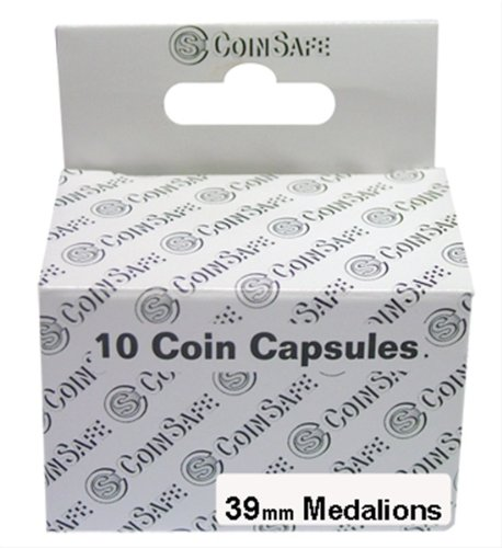 CoinSafe Capsules for Medallions, Box of 10 (39mm) - 1