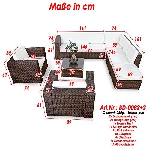 Gartenmobel Eukalyptus Winter : XINRO XXXL 25tlg Polyrattan Gartenmöbel Lounge Möbel günstig + 2x