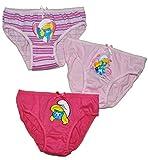 3 tlg. Slip / Unterhosen - Schlumpfine - Größe 2 bis 3 Jahre - Gr. 98 bis 104 - 100 % Baumwolle - für Kinder Pants Unterhose Slips die Schlümpfe / Schlumpf Mädchen - Slips 3er Pack