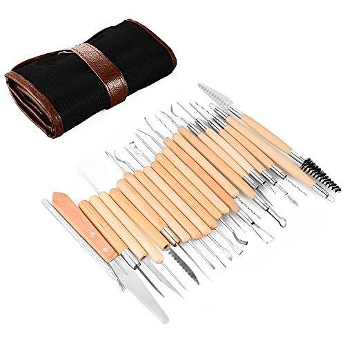 xcsource-strumenti-craft-22pcs-ceramica-set-con-il-sacchetto-portatile-a-secco-di-argilla-intaglio-s