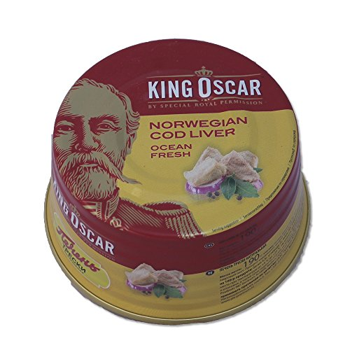 King Oscar Cod Liver in Own Oil, 6.67-Ounces Tins, 190 Gram, (Pack of 3) (Canned Cod Fish compare prices)