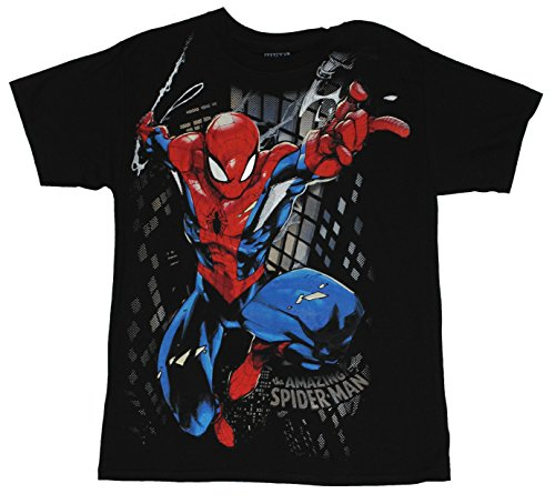 In my parents basement spider man marvel comcis mens t for Entire book on shirt