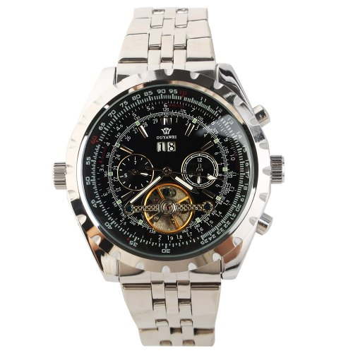 Yesurprise New Fashion Luxury Men Stainless Steel Automatic Mechanical Wrist Watch for Graduation Party Gift Trendy #12