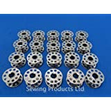 20 Metal High Quality Domestic Sewing Machine Bobbins WILL FIT, BROTHER,TOYOTA, JANOME CLEAR
