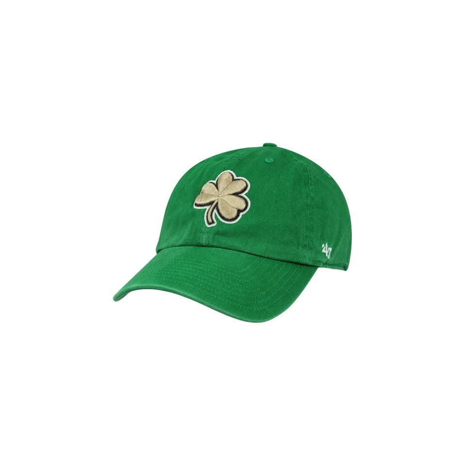 NCAA 47 Brand Notre Dame Fighting Irish Clean Up Clover Adjustable Slouch Hat   Kelly Green